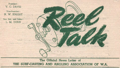 The front page header on the June 1953 Reel Talk